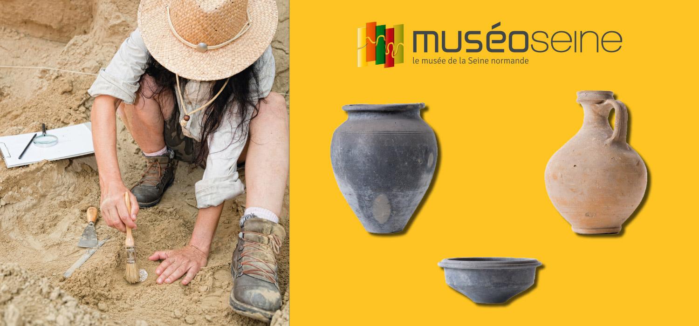 exposition sur l'archéologie à MuséoSeine du 28 avril au 29 octobre 2017